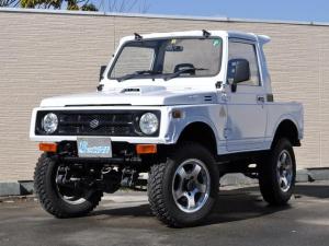スズキ ジムニー CC 4WD 5MT リフトアップ公認済 前後パイプバンパー FRPルーフ ルーフスポイラー 社外ステアリング 社外マフラー カロッツェリアオーディオ 16インチAW