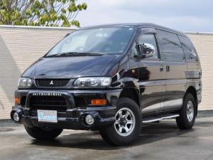 三菱 デリカスペースギア シャモニー ユーザー買取車 4WD リフトアップ 後席カーテン オートサイドステップ カロッツェリアSDナビBluetooth接続可 ドラレコ ETC 社外ルームランプ