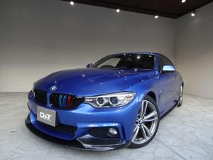 BMW 4シリーズ 420iクーペ Mスポーツ インテリジェントセーフティ レーンディパーチャーウォーニング カーボンエアロパーツ 純正ナビ バックカメラ Bluetooth 19インチアルミ スマートキー HID ETC 禁煙車 記録簿
