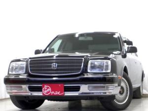 トヨタ センチュリー フロアシフト フロント後期ルック ドアミラー ヒーター付グレー革電動シート 本木製/革巻きコンビステアリングホイール/シフトノブ 純正ナビ 地デジ 液晶7型ディスプレイ付大型コンソール シアターサウンドシステム