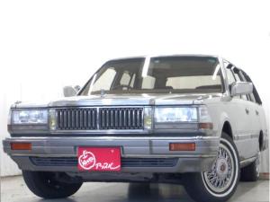 日産 セドリックワゴン SGL グリニッシュシルバーMツートーンカラー ホワイトリボンタイヤ ドアバイザー 電動格納調整ドアミラー オートライト ブロアムホイールキャップ H30年78330km時タイミングベルト交換ステッカーあり