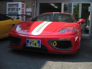 フェラーリ 360 モデナ 6速マニュアルチャレンジLOOKエアロアルミパワークラフト黒本革キセノン