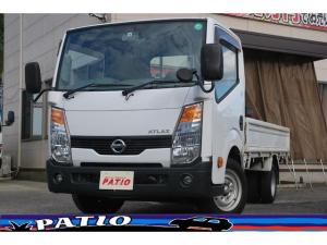 日産 アトラストラック スーパーローDX 5速MT ガソリン車 平ボディ 三方開 積載1.5t 純正オーディオ ETC ドラレコ キーレス エアバック ABS