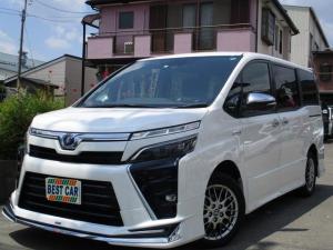 トヨタ ヴォクシー ハイブリッドZS 煌II セーフティセンス 禁煙車 モデリスタエアロ フルセグ純正ナビTV フリップダウンモニター カラーバックモニター Bluetooth ETC 両側電動ドア LEDヘッドライト シートヒーター