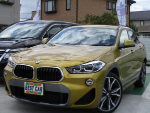 BMW X2 xDrive 20i MスポーツX 4WD 禁煙車 黒革シート 純正ナビ バックモニター Bluetooth CD DVD再生 ミラー型ETC スマートキー スペアキー パワーシート シートヒーター LEDヘッドライトシステム