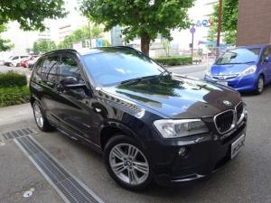 BMW X3 xDrive 20i Mスポーツパッケージ 正規ディーラー下取車 禁煙車 全正規ディーラー記録簿6枚完備 HDDナビ フルセグTV バックカメラ 前後センサー コンフォートアクセス スペアキー 5面フィルム貼 クルコン キセノン 半革 18AW
