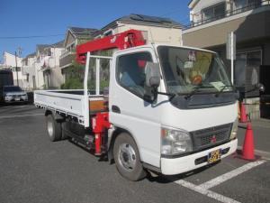 三菱ふそう キャンター ロング高床SA 標準ボディー ダダノ3段クレーン フックイン オートマ ABS フル装備 軽油