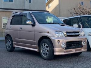 ダイハツ テリオスキッド カスタムX ワンオーナー 4WD ターボ CD 背面タイヤ