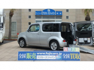 i日産 キューブ 福祉車輌 チェアキャブ リアスロープ 電動ウインチ