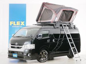トヨタ ハイエースワゴン GL 10人乗り3ナンバー登録 ガソリン2WD 内装アレンジVer1 ローダウン 17インチAW ナビ ETC 後席モニター PVM クリアランスソナー ベッド テーブル 床張り