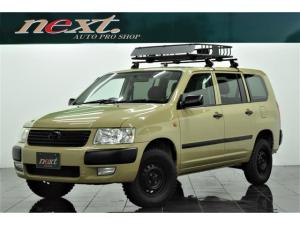 トヨタ サクシードバン UL Xパッケージ 5速MT リフトアップ MTタイヤ キャリアラック ナビ 4席パワーウインドウ カスタム