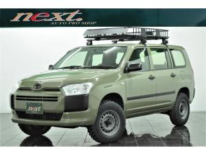 トヨタ プロボックス DX 4WD リフトアップ カスタム塗装ホイール 新品マッドタイヤ ルーフキャリア ルーフラック ナビ ETC アウトドア カスタム