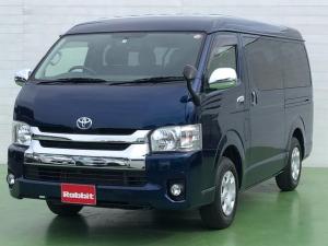 トヨタ ハイエースワゴン GL 2.7ガソリン車 4WD オートスライドドア 10人乗り 社外ナビTV バックカメラ AC100V コーナーセンサー ビルトインETC