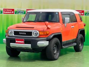 トヨタ FJクルーザー ベースグレード 4WD ワンオーナー 純正ナビTV バックカメラ パーキングセンサー