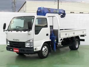 いすゞ エルフトラック  3.0Dターボ 標準ロング タダノ製3段クレーン ラジコン付 3t積 6速MT