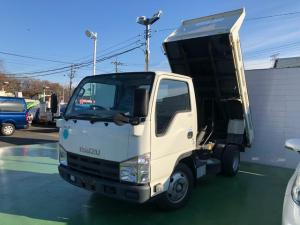 いすゞ エルフトラック 強化フルフラットローダンプ 2t積 全低床 5速マニュアル HSA キーレス