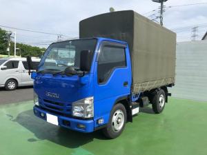 いすゞ エルフトラック  3.0Dターボ 平ボディ 幌付き 2t積 5速マニュアル HSA 荷台床鉄板 キーレス