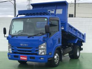いすゞ エルフトラック  3.0Dターボ ワイドキャビン 4tダンプ ルーフキャリア ダンプピン 6速MT