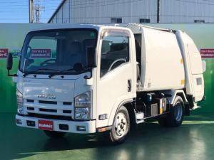 いすゞ エルフトラック  3.0Dターボ プレス式パッカー車 4.1立米 2t積 連続運転 モリタエコノス製 6速マニュアル