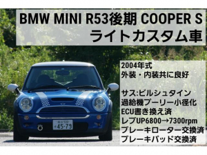 MINI クーパーS スーパーチャージャー・右H・6速MT・ライトカスタム車(サスペンション・プーリー小径化・ECU書き換え済)