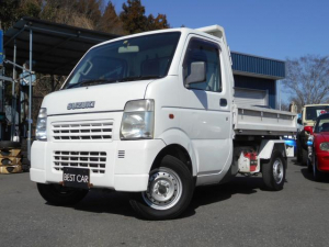スズキ キャリイトラック KU ダンプ 5速 4WD エアコン パワステ 最大積載量350キロ ドアバイザー K6Aタイミングチェーンエンジン