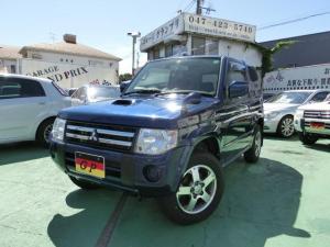 三菱 パジェロミニ ナビエディションVR 4WD オートマ ターボ 純正HDDナビ ワンセグ 本革巻ステアリング 純正アルミ