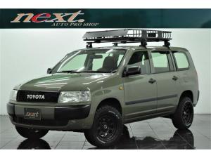 トヨタ プロボックスバン DXコンフォートパッケージ 4WD リフトアップ 社外ホイール マッドタイヤ オリジナルグリル ルーフキャリア ルーフラック ナビ 地デジTV フルセグ Bluetooth アウトドア カスタム