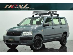 トヨタ サクシードバン UL 4WD メモリーナビ Bluetooth リフトアップ ブラックアウトホイール 新品マッドタイヤ 新品ルーフラック アウトドアカスタム