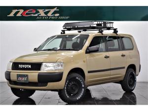 トヨタ プロボックスワゴン F エクストラパッケージ 4WD 5速MT ナビ 地デジTV フルセグ Bluetooth 電動格納ミラー 4席パワーウィンドウ リフトアップ ブラックアウトホイール マッドタイヤ イノーキャリアベース ルーフラック カスタム