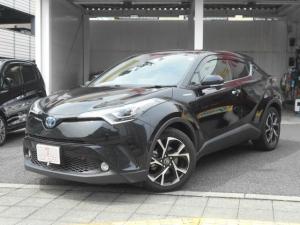 トヨタ C-HR G LEDエディション ワンオーナー セーフティセンス 純正9インチナビ 黒/茶ハーフレザーシート レーダークルコン