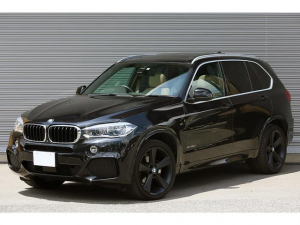 BMW X5 xDrive 35d Mスポーツ セレクトPKG LEDヘッドライト ACC ベージュレザー パノラマサンルーフ BMW Individual アルミニウムライン  純正ナビ フルセグ トップビュー TVキャンセラー