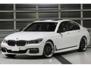 BMW 7シリーズ 750i Mスポーツ 車検R4年8月迄 BBSLM21インチアルミ ワンオフマフラー アルピナデジタルメーター レーザーライト サンルーフ 黒革シート ヘッドアップディスプレイ ドライビングアシストプラス ACC