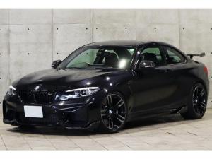 BMW M2 ベースグレード 後期LCIモデル M Performanceスポーツサスペンション カーボンリアウィング リアディフューザー 鍛造19インチAW アダプティブLED レーンディパーチャー 黒革 シートヒーター ナビ