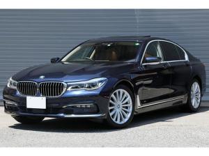 BMW 7シリーズ 750i プラスPKG サンルーフ コニャックレザー ドライビングアシストプラス アクティブクルーズ ベンチレーション 3Dビュー harman/kardon レーザーライト 純正19AW D点検記録簿