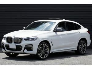 BMW X4 M40i 2020年モデル 1オーナー&ユーザー買取車 パノラマサンルーフ 388ps ライブコックピット 茶革 harman/kardon Mアダプティブサス 専用21AW ACC LEDライト 新車保証付