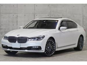 BMW 7シリーズ 750i リアコンフォートPKG OP21インチAW リアエンターテインメント 茶革 前後シートヒーター&ベンチレーター サンルーフ レーザーライト ドライビングアシスト harman/kardon 3Dビュー