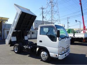 いすゞ エルフトラック  3トンダンプ 土砂ダンプ 全低床 強化三方開 新明和工業製 標準幅 10尺 4ナンバー