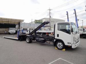 いすゞ エルフトラック  フラトップZero 車両運搬車 積載車 ラジコン・ウインチ付 ワイド 超ロング 3トン積み 荷台長5.7m