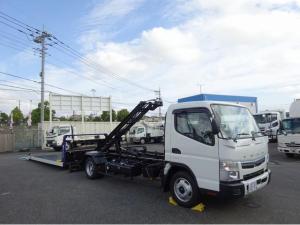三菱ふそう キャンター  積載車 極東開発工業 フラトップ 車両運搬車 ワイド 超ロング 全低床 2550kg積載