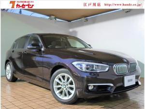 BMW 1シリーズ 118d スタイル 純正メーカーナビ バックカメラ インテリジェントセーフティー ETC ハーフレザーシート クルーズコントロール レーンキープ スマートキー プッシュスタート アイドリングストップ 車線逸脱警告