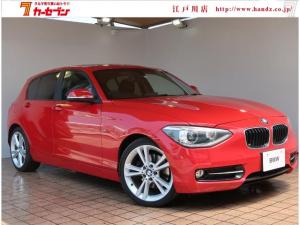 BMW 1シリーズ 116i スポーツ サンルーフ 18AW ETC HIDヘッドライト プッシュスタート スマートキー 電格ミラー アイドリングストップ AUX 純正マット ウィンカーミラー オートエアコン