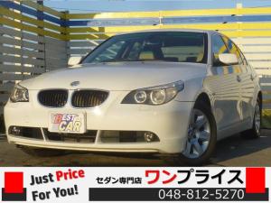 BMW 5シリーズ 525i 革 ナビ ETC 純正AW キーレス HID