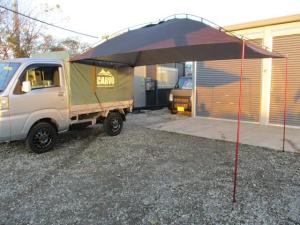 ダイハツ ハイゼットトラック スタンダード FAFリフトアップサス ジオランダーX-AT 145R14C 4本新品 アルミXTREME-J XJ 約50mmリフトアップ CARVO 車中泊 ソロキャンプ