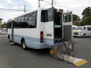 日産 シビリアンバス 福祉車両 18名車いす4脚 機械式固定 ディーゼル ステップ