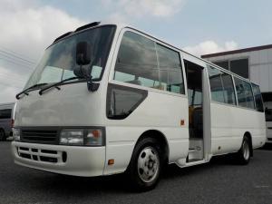 トヨタ コースター ロングLXターボ 幼児バス 大人3幼児49 自動ドア アクセルインターロック 記録簿40枚超 オリジナル幼児バスステッカー