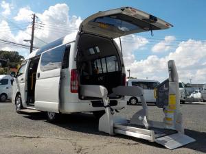 トヨタ ハイエースバン ウェルキャブ Bタイプ 福祉車両 車いす2脚 電動固定式 リアリフト仕様 消費税非課税 自動ドア 電格ミラー 前後ソナー