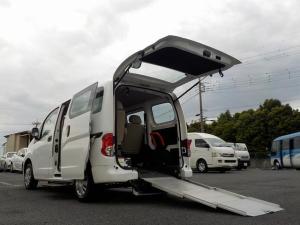 日産 NV200バネットバン アンシャンテ チェアキャブ スローパー 専用サードシート付き 福祉車両 6人・車いす1脚 電動固定式 オートステップ 手すり 走行2.6万km 消費税非課税