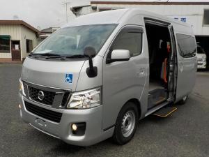 日産 NV350キャラバンワゴン アンシャンテ 送迎オートステップ 10人乗り 普通免許OK 自動ドア 手すり サイドステップ Bカメラ 走行2.5万km