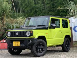 スズキ ジムニー XC シートヒーター 4WD スマートキー プッシュスタート ヒルディセントコントロール スズキセーフティサポート タイヤ保証付き 新品マッドブラックホイール