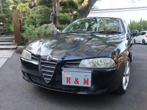 アルファロメオ アルファ156 リネアロッサ2.5 V6 24V Qシステム 革シート AW オーディオ付 クルコン AC AT パワーウィンドウ 5名乗り